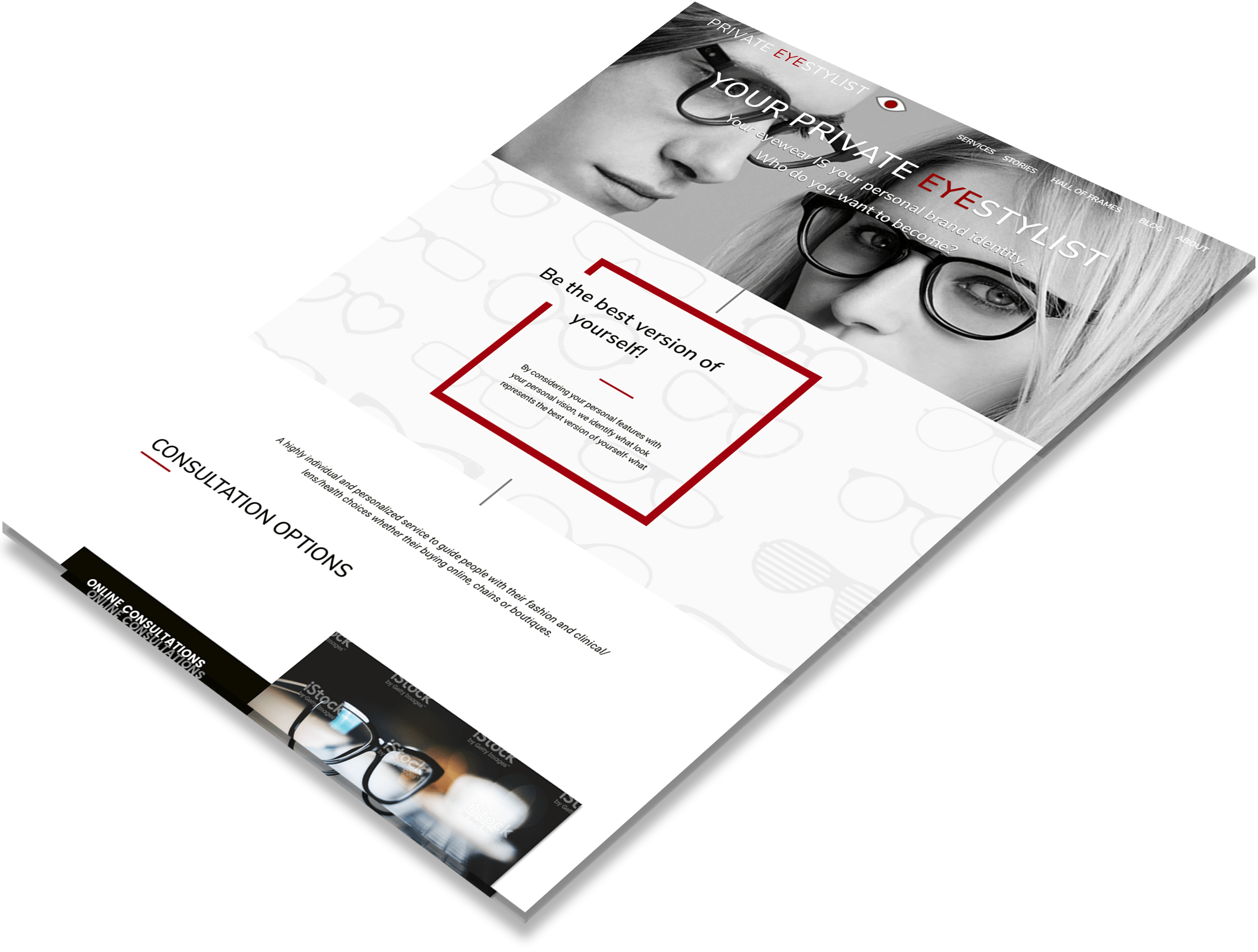 Your Private EyeStylist landing page image